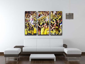 Arsenal Fans 3 Split Panel Canvas Print - Canvas Art Rocks - 3