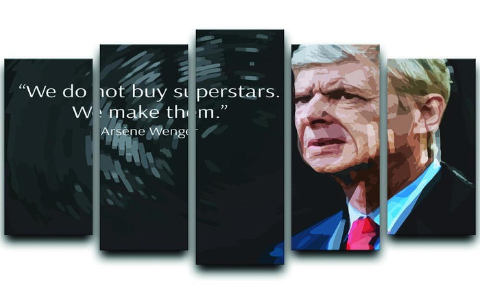 Arsene Wenger Superstars 5 Split Panel Canvas