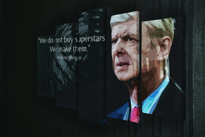 Arsene Wenger Superstars 5 Split Panel Canvas - Canvas Art Rocks - 2