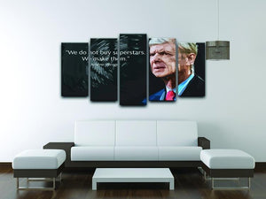 Arsene Wenger Superstars 5 Split Panel Canvas - Canvas Art Rocks - 3