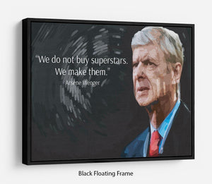 Arsene Wenger Superstars Floating Frame Canvas