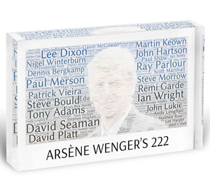 Arsene Wengers 222 Players Acrylic Block - Canvas Art Rocks - 1