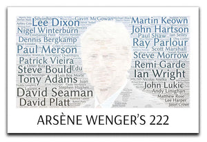 Arsene Wengers 222 Players Canvas Print or Poster  - Canvas Art Rocks - 1