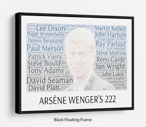 Arsene Wengers 222 Players Floating Frame Canvas