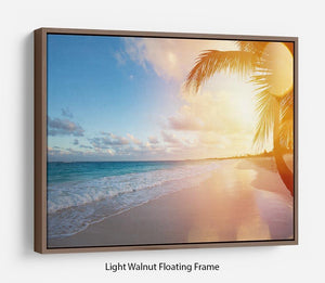Art Beautiful sunrise Floating Frame Canvas - Canvas Art Rocks 7