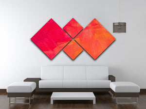 Art abstract painted background 4 Square Multi Panel Canvas  - Canvas Art Rocks - 3