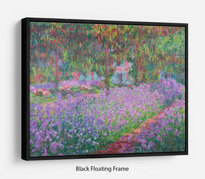 Artists Garden by Monet Floating Frame Canvas