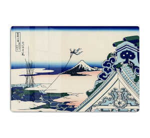 Asakusa Honganji temple by Hokusai HD Metal Print