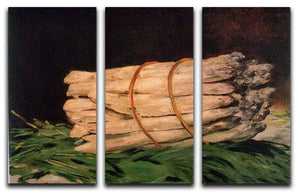 Asperagus by Manet 3 Split Panel Canvas Print - Canvas Art Rocks - 1