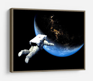 Astronaut Floating to Earth HD Metal Print