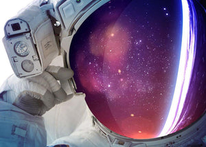 Astronaut Wall Mural Wallpaper - Canvas Art Rocks - 1