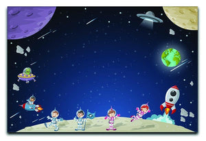 Astronaut cartoon characters Canvas Print or Poster  - Canvas Art Rocks - 1