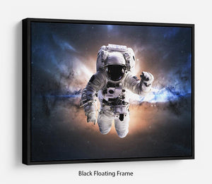 Astronaut in galaxy Floating Frame Canvas