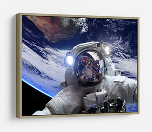 Astronaut in outer space against the backdrop HD Metal Print