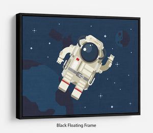 Astronaut in outer space concept vector Floating Frame Canvas