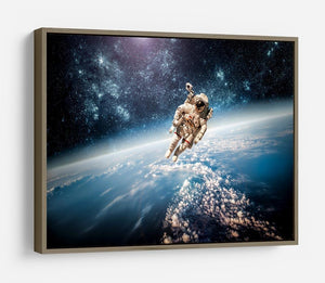 Astronaut in outer space planet earth HD Metal Print