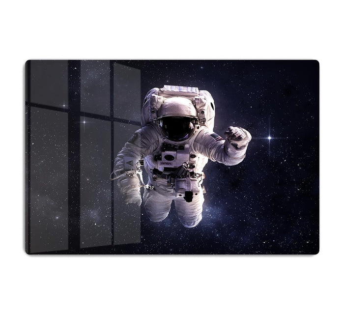 Astronaut in outer space with stars HD Metal Print