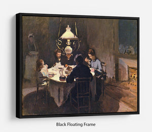 At the Table by Monet Floating Frame Canvas