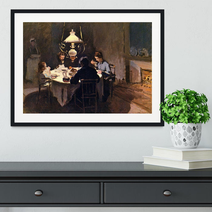 At the Table by Monet Framed Print