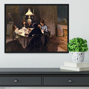 At the Table by Monet Framed Print - Canvas Art Rocks - 2