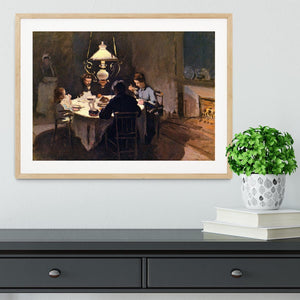 At the Table by Monet Framed Print - Canvas Art Rocks - 3