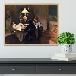 At the Table by Monet Framed Print - Canvas Art Rocks - 4