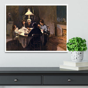 At the Table by Monet Framed Print - Canvas Art Rocks -6