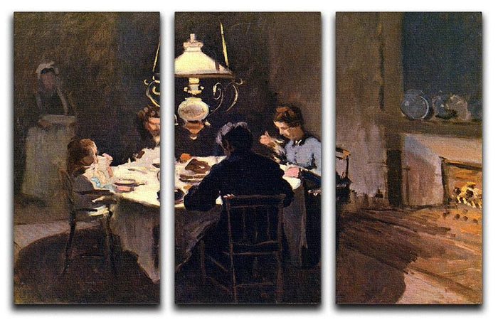 At the Table by Monet Split Panel Canvas Print