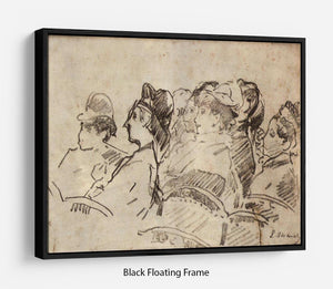 At the Theater by Manet Floating Frame Canvas