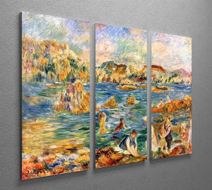 At the beach of Guernesey by Renoir 3 Split Panel Canvas Print - Canvas Art Rocks - 2