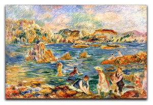 At the beach of Guernesey by Renoir Canvas Print or Poster  - Canvas Art Rocks - 1