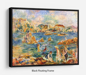 At the beach of Guernesey by Renoir Floating Frame Canvas