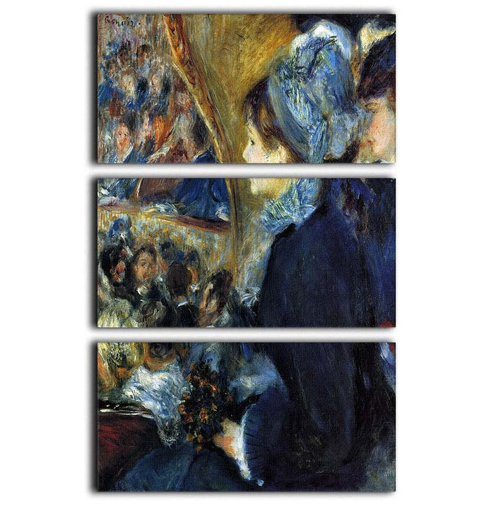 At the theatre by Renoir 3 Split Panel Canvas Print