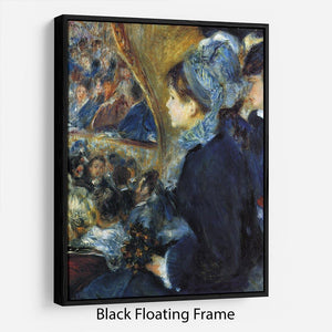 At the theatre by Renoir Floating Frame Canvas