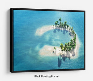 Atoll Floating Frame Canvas - Canvas Art Rocks - 1