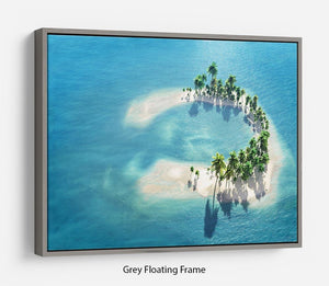 Atoll Floating Frame Canvas - Canvas Art Rocks - 3