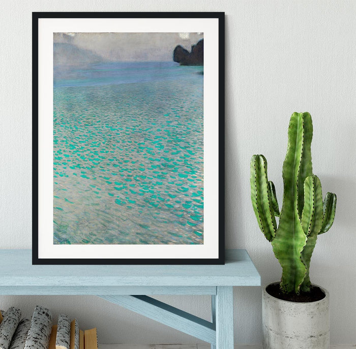 Attersee by Klimt Framed Print