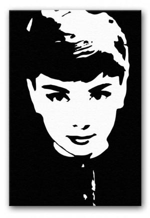 Audrey Hepburn Close-Up Print - Canvas Art Rocks - 1