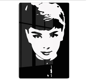 Audrey Hepburn Close-Up HD Metal Print