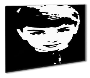 Audrey Hepburn Close-Up Outdoor Metal Print - Canvas Art Rocks - 1