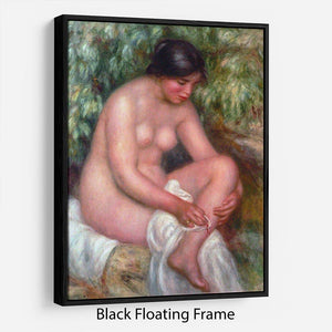 August Renoir Bathing by Renoir Floating Frame Canvas