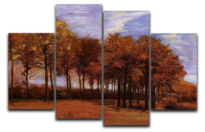 Autumn Landscape by Van Gogh 4 Split Panel Canvas  - Canvas Art Rocks - 1