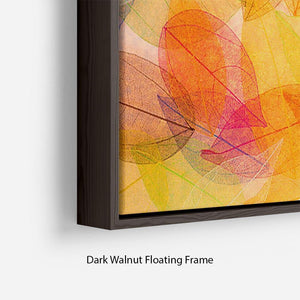 Autumn background Floating Frame Canvas