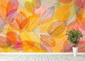 Autumn background Wall Mural Wallpaper - Canvas Art Rocks - 4