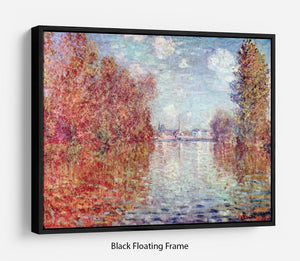 Autumn in Argenteuil by Monet Floating Frame Canvas