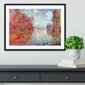 Autumn in Argenteuil by Monet Framed Print - Canvas Art Rocks - 1