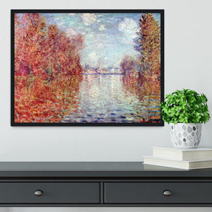 Autumn in Argenteuil by Monet Framed Print - Canvas Art Rocks - 2