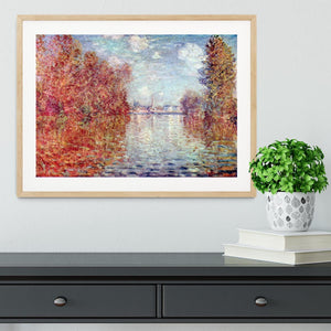 Autumn in Argenteuil by Monet Framed Print - Canvas Art Rocks - 3