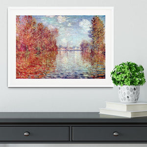 Autumn in Argenteuil by Monet Framed Print - Canvas Art Rocks - 5
