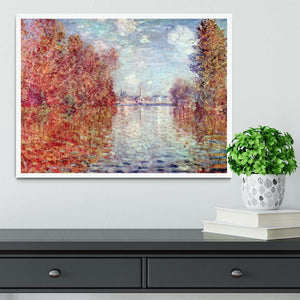 Autumn in Argenteuil by Monet Framed Print - Canvas Art Rocks -6